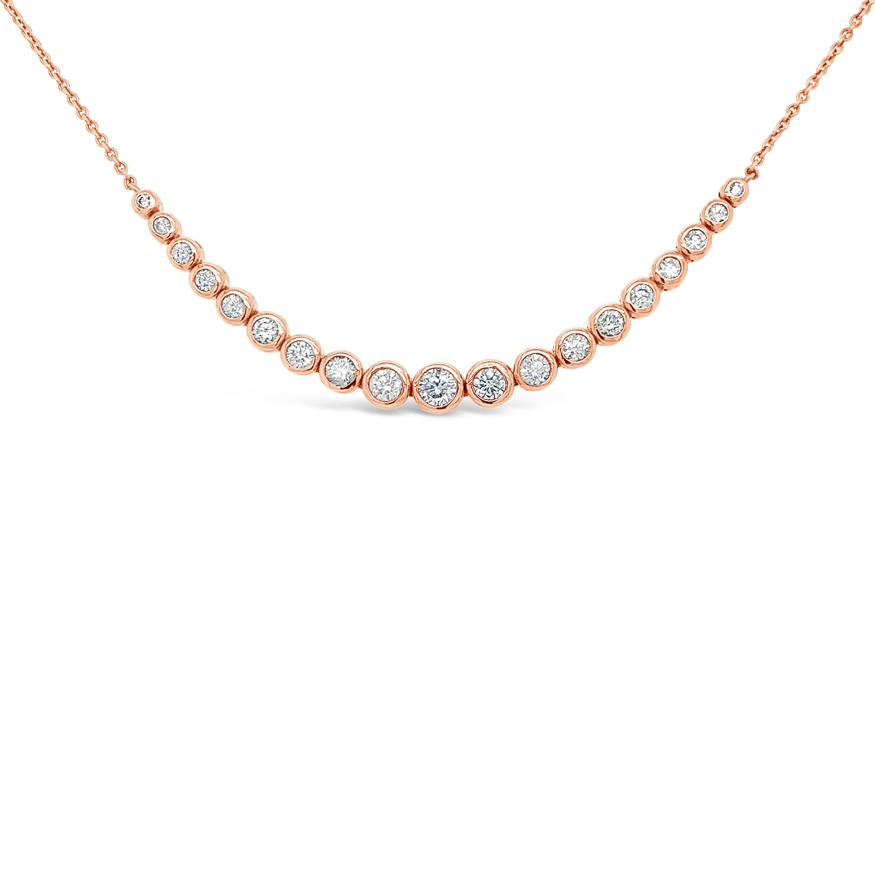 1.00 Carat Diamond Fashion Necklace in 14K Rose Gold - 16""