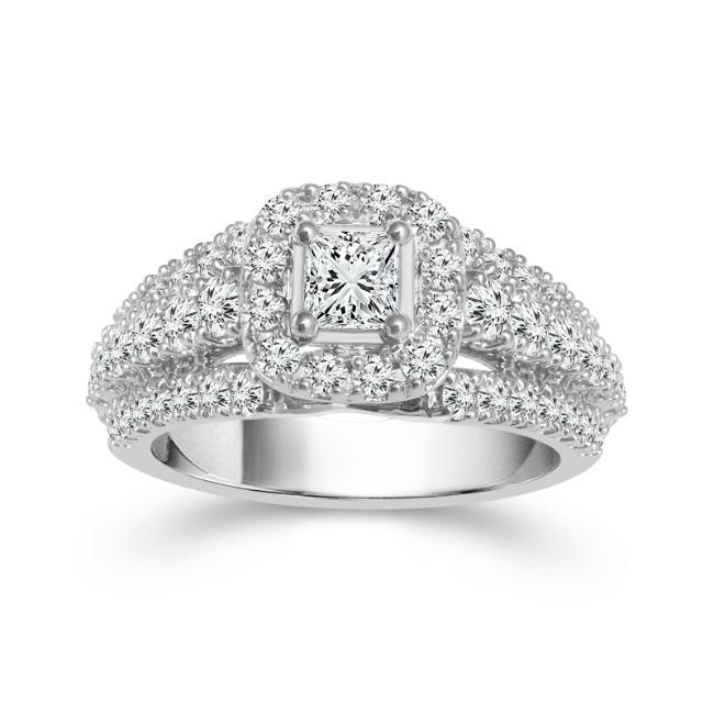 2.00 Carat Diamond Engagement Ring in 14K White Gold (I-J,I1)