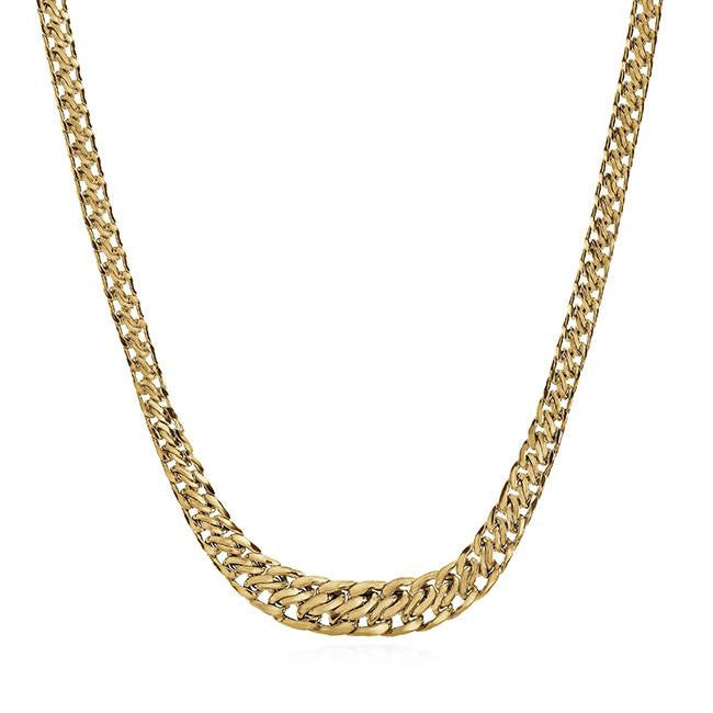 10K Yellow Gold Fancy Link Necklace - 18""