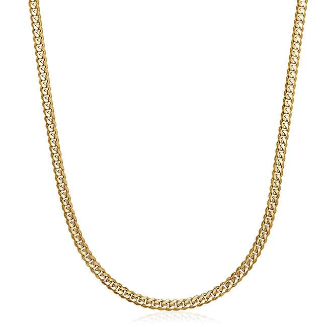 14K Yellow Gold Curb Link Men's Chain