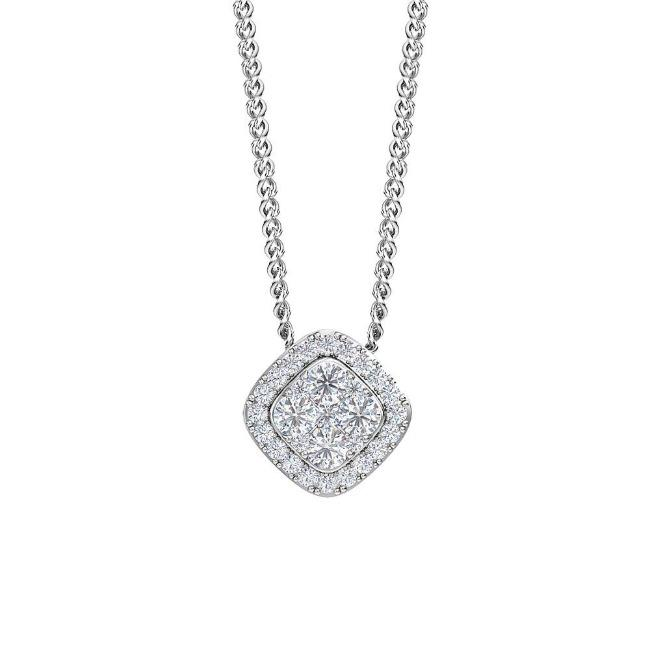 3/4 Carat Lab-Grown Diamond Pendant in 14K White Gold - 18