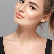 Load image into Gallery viewer, 1/6 Carat Diamond Stations Choker Necklace in 10K Yellow Gold