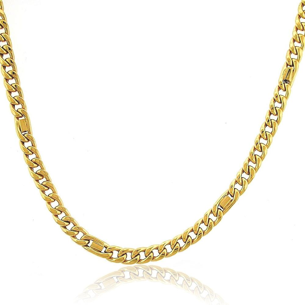 "10K Yellow Gold Fancy Curb Link Chain Necklace - 22"" - 17.8 grams!"