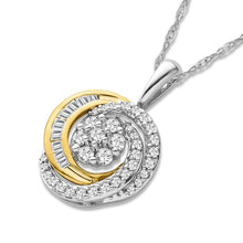 Load image into Gallery viewer, 1/3 Carat Diamond Necklace in Two-Tone 10K Gold - 18""