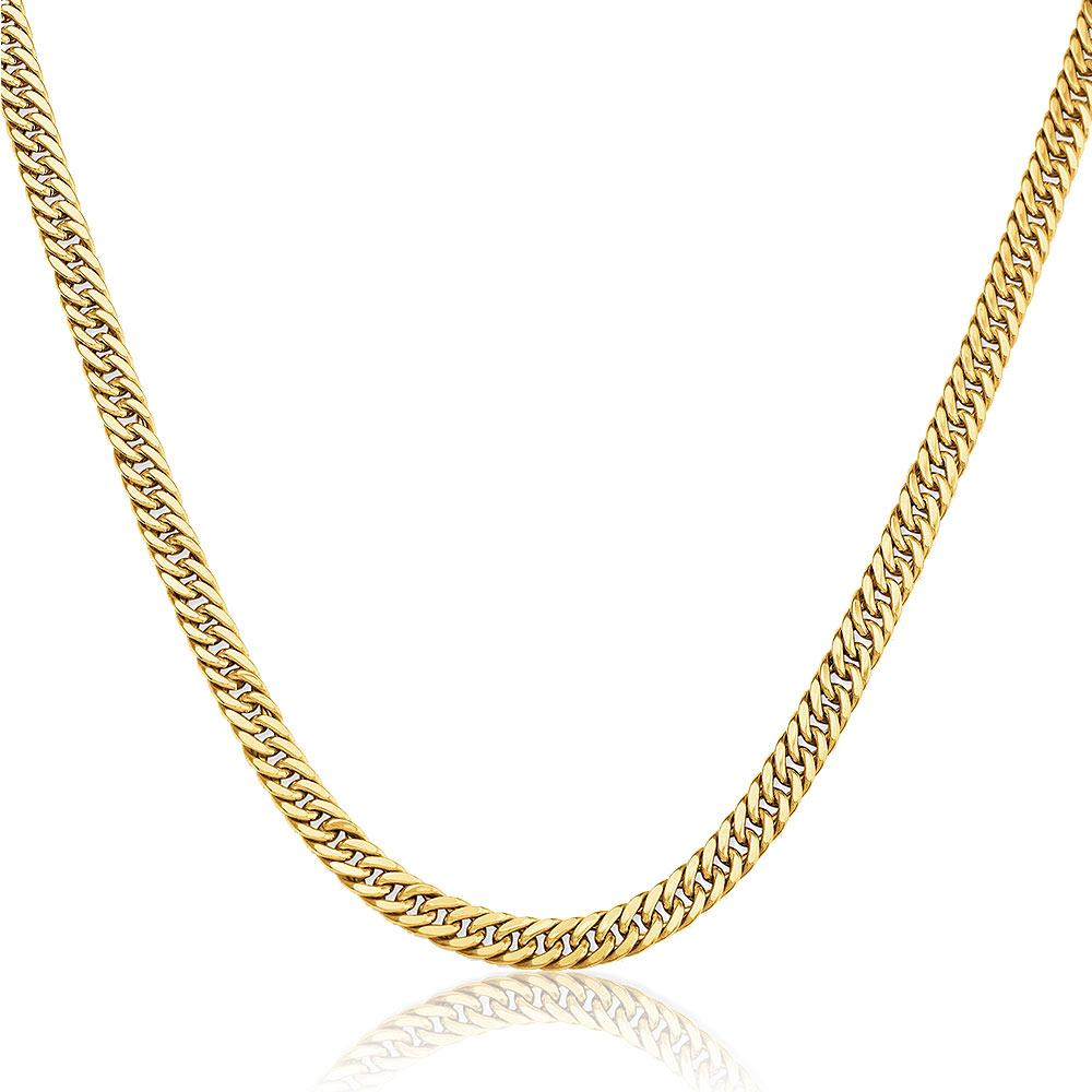 "10K Yellow Gold Cuban Link Chain Necklace - 22"" - 31.0 grams!"