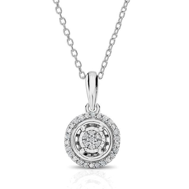 Shop dazzling diamond pendants necklaces at netaya 110ct diamond halo pendant in sterling silver with 18 chain aloadofball Gallery