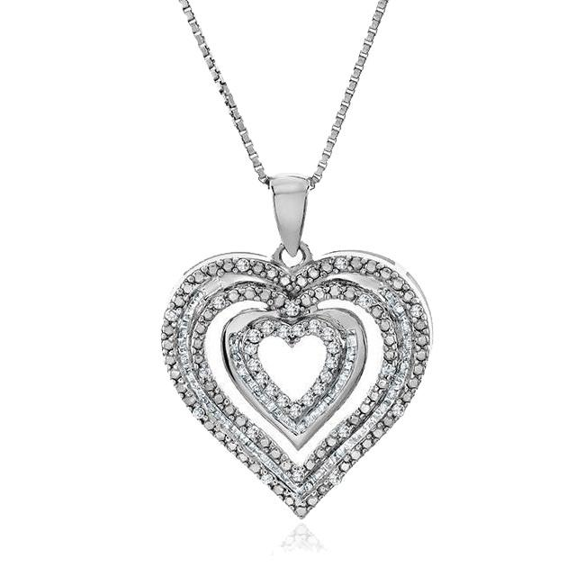 12_Carat_Diamond_Heart_Pendant_in_Sterling_Silver_with_Chain