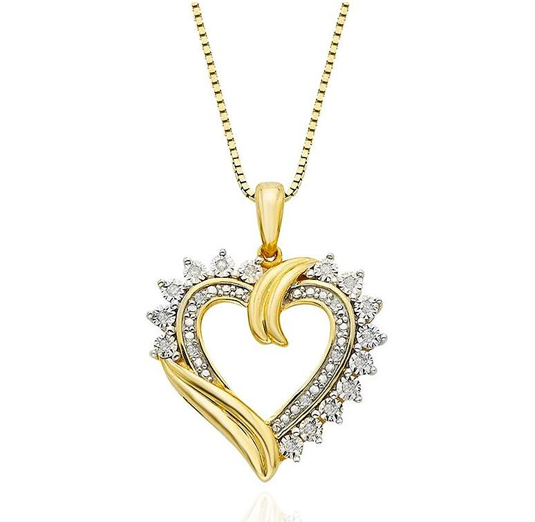 110_Carat_Diamond_Heart_Pendant_in_14k_Yellow_GoldSterling_Silver__18