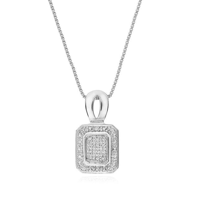 0.15 Carat Diamond Pendant in Sterling Silver with Chain