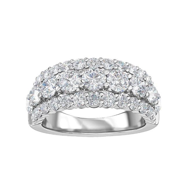2.25 Carat Lab-Grown Diamond Anniversary Band in 14K White Gold (G-H/SI1)