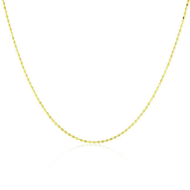Bead Necklace in 14K Yellow Gold - 18""