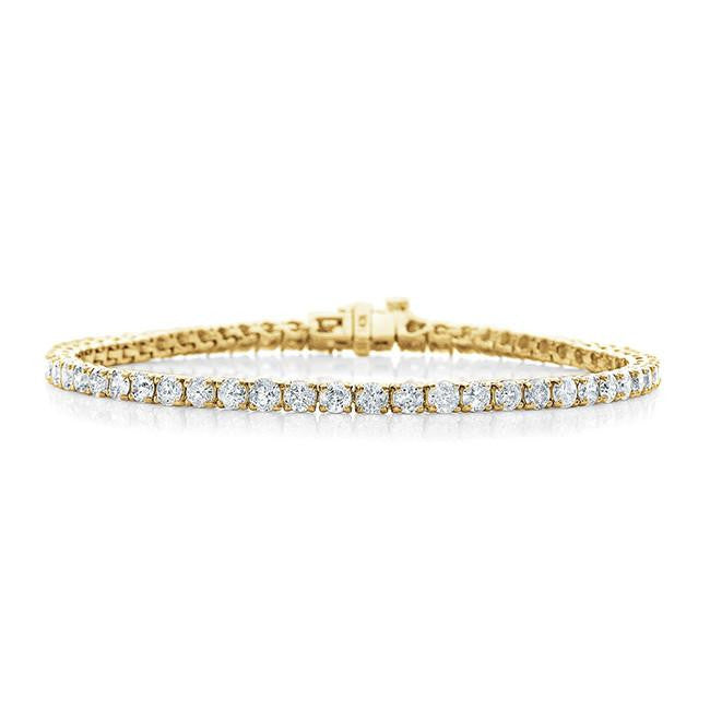 5.00 Carat Diamond Straight Link Tennis Bracelet in 14k Yellow Gold (I2-I3/I-J)