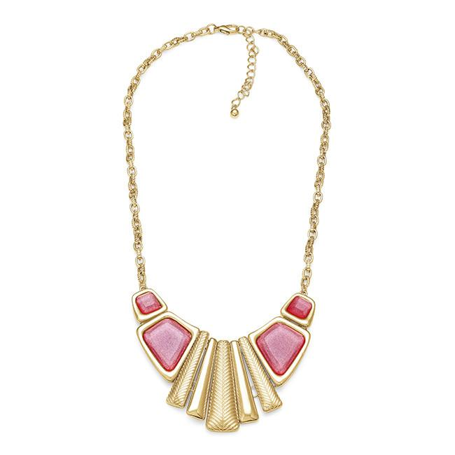 Pink Fashion Necklace - 18""