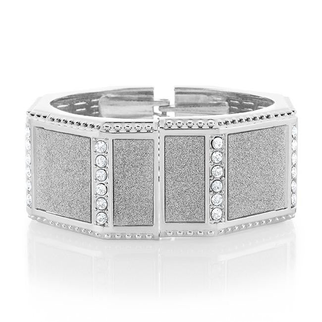 Cubic Zirconia Fashion Bangle - 7""