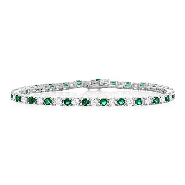 9.00 Carat Emerald CZ Fashion Tennis Bracelet - 7.25""