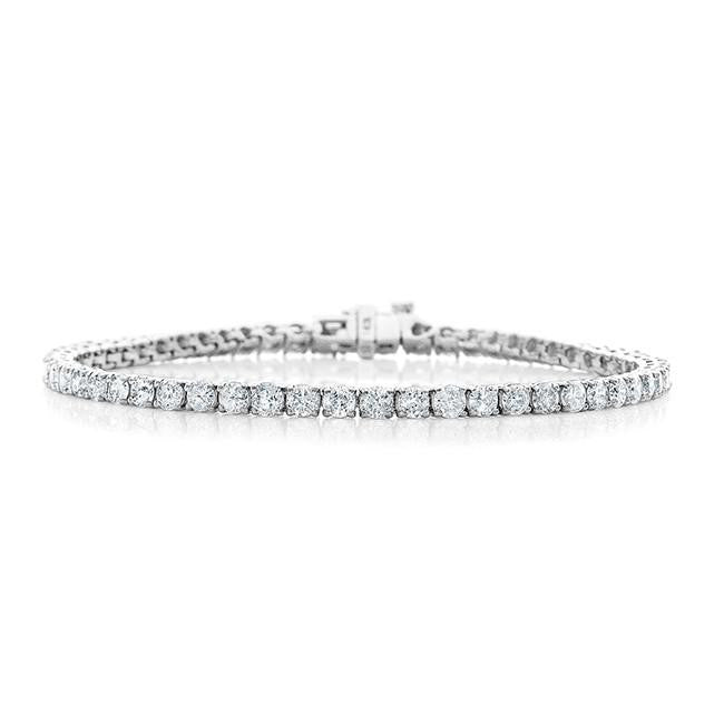 5.00 Carat Diamond Straight Link Tennis Bracelet in 14k White Gold (I1-I2/H-I)