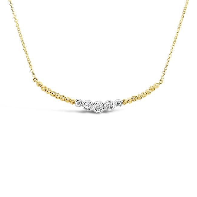 1/5 Carat Diamond Fashion Necklace in 10K Yellow Gold - 17""
