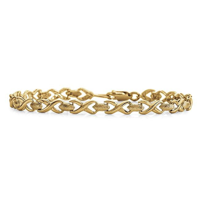 10K Yellow Gold Fancy Bracelet - 7.25""