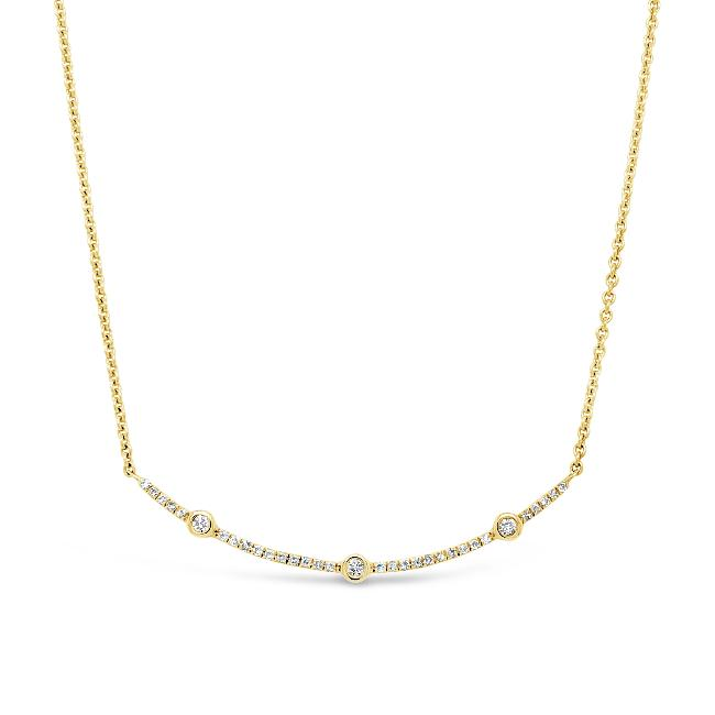 1/8 Carat Diamond Fashion Necklace in 10K Yellow Gold - 16""