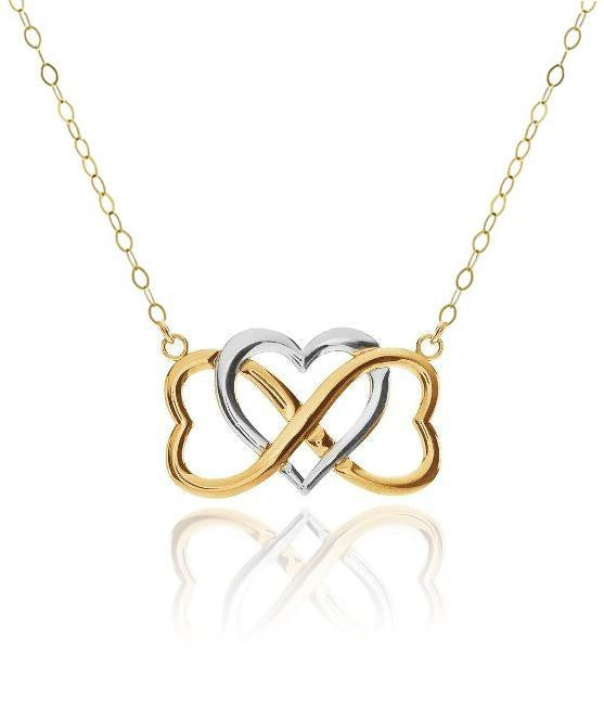 10K Gold Two-Tone 'Infinite Love' Necklace