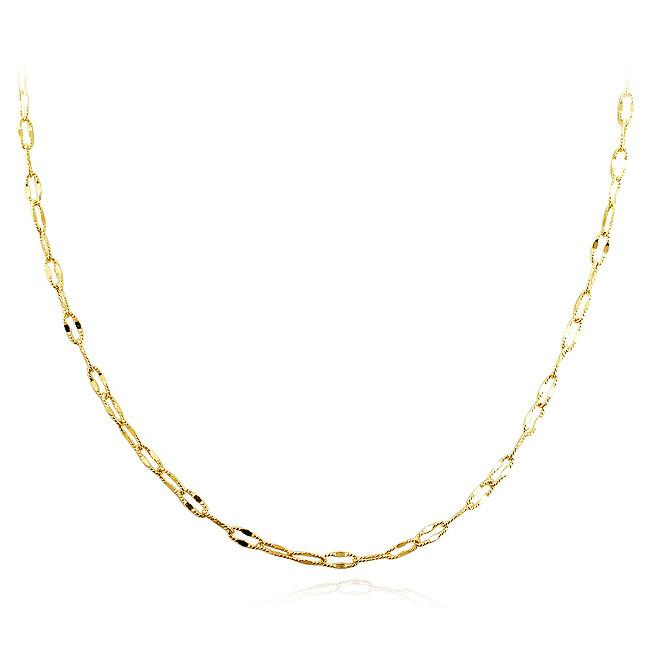 Oval Link Necklace in 10K Yellow Gold - 24""