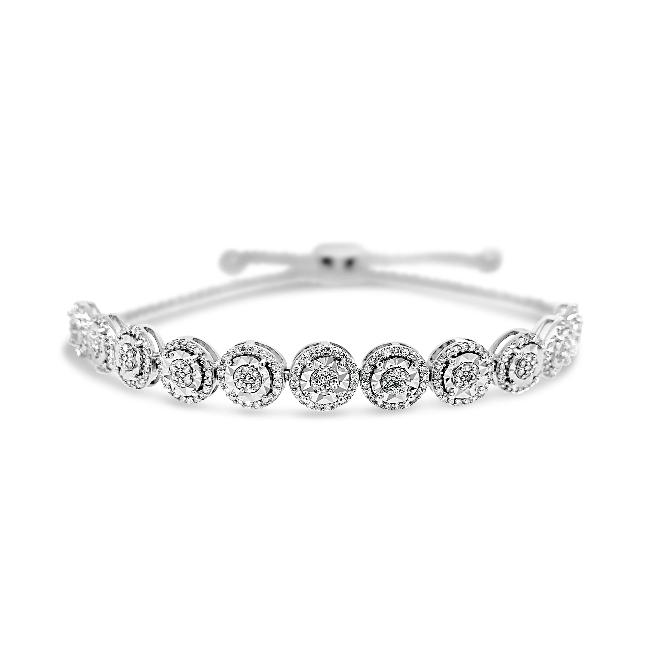 1/2 Carat Diamond Fashion Bolo Bracelet in 10K White Gold - 9.5""