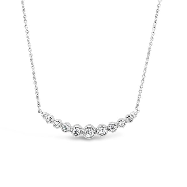 1/3 Carat Diamond Fashion Necklace in 10K White Gold - 18""
