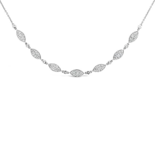 1/3 Carat Diamond Fashion Necklace in 14K White Gold- 16""