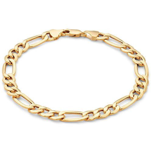 "Men's 8.5""  Figaro Bracelet in 18K Gold/Bronze"
