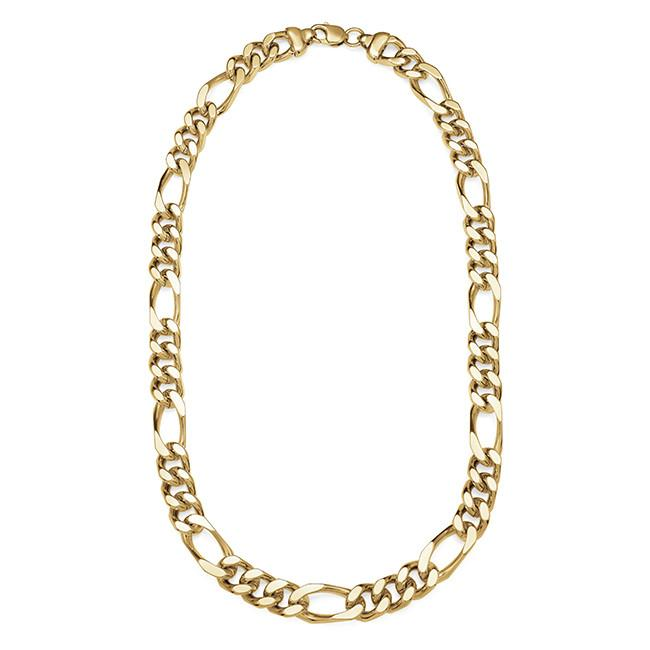 "Men's 22"" Figaro Necklace in 18K/Bronze"