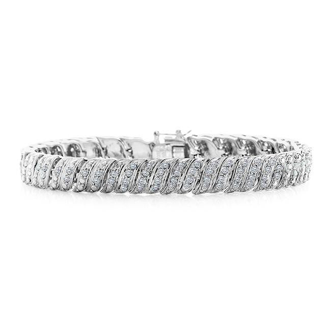 1.00 Carat Diamond Tennis Bracelet in Platinum/Bronze - 7.5""