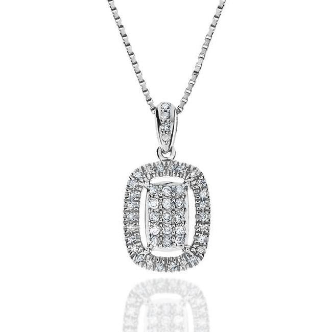 "1/4 Carat Diamond Pendant in Sterling Silver with 18"" Chain"