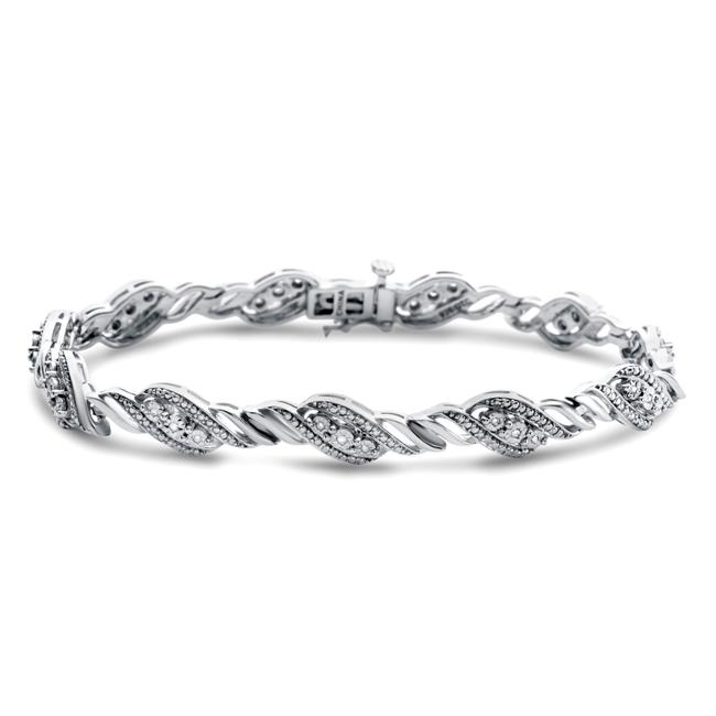 Diamond Miracles: 0.10 Carat Diamond Bracelet - 7.5""