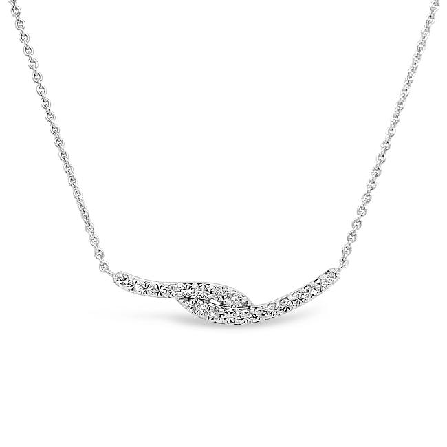 Diamond Accent Fashion Necklace in Sterling Silver - 18""