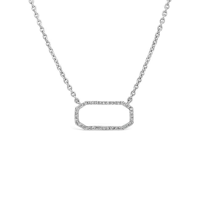 1/10 Carat Fashion Necklace in Sterling Silver - 16""
