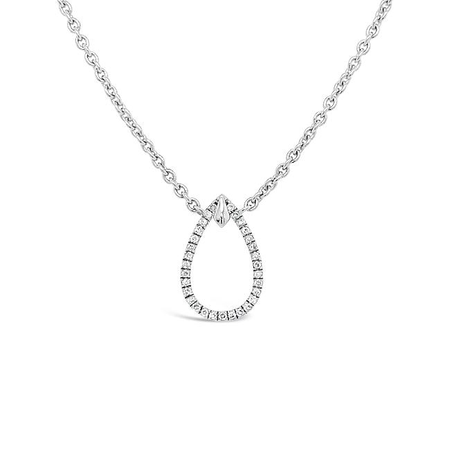 0.08 Carat Diamond Choker Necklace in Sterling Silver - 16""