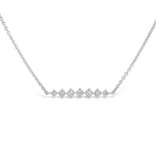 1/10 Carat Diamond Fashion Necklace in Sterling Silver - 16""