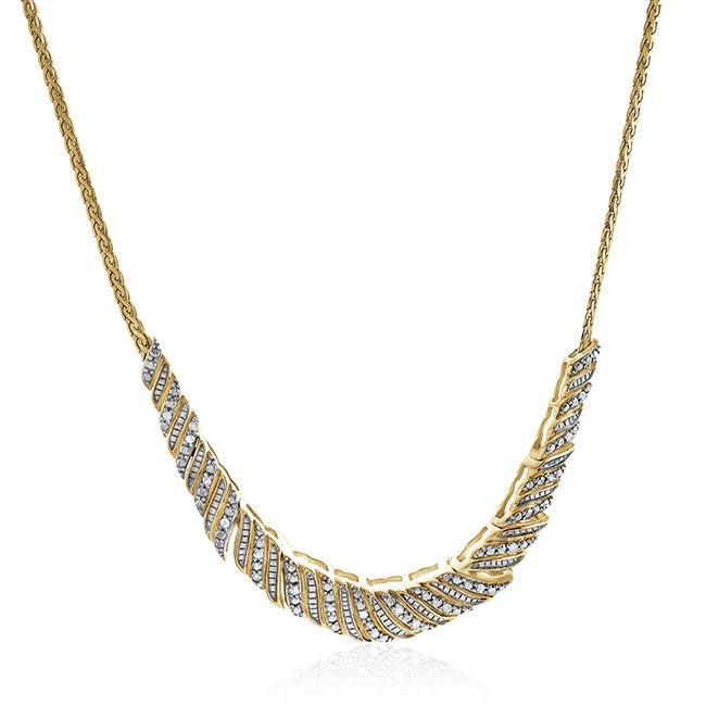 1/4 Carat Diamond Necklace in Gold Over Sterling Silver
