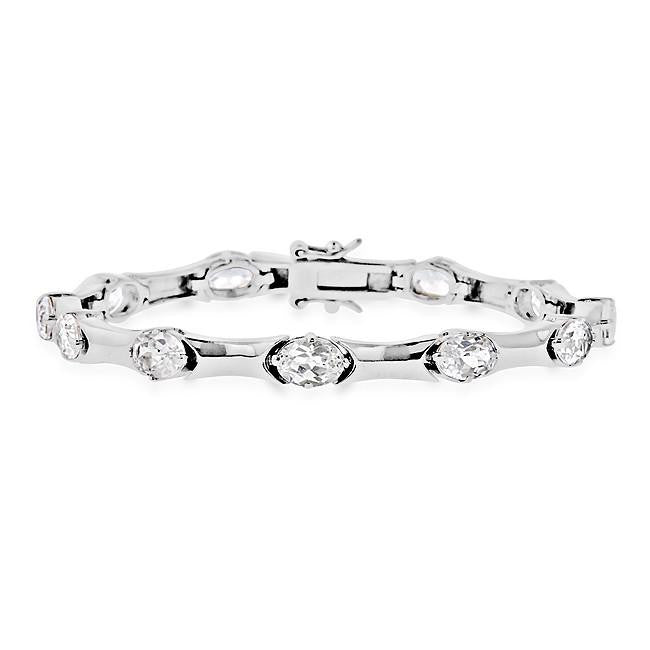 11.00 Carat White Sapphire Fashion Bracelet in Sterling Silver - 7.25""