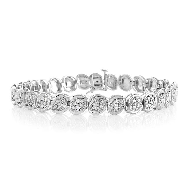 1/4 Carat Fashion Diamond Bracelet in Sterling Silver - 7.5""