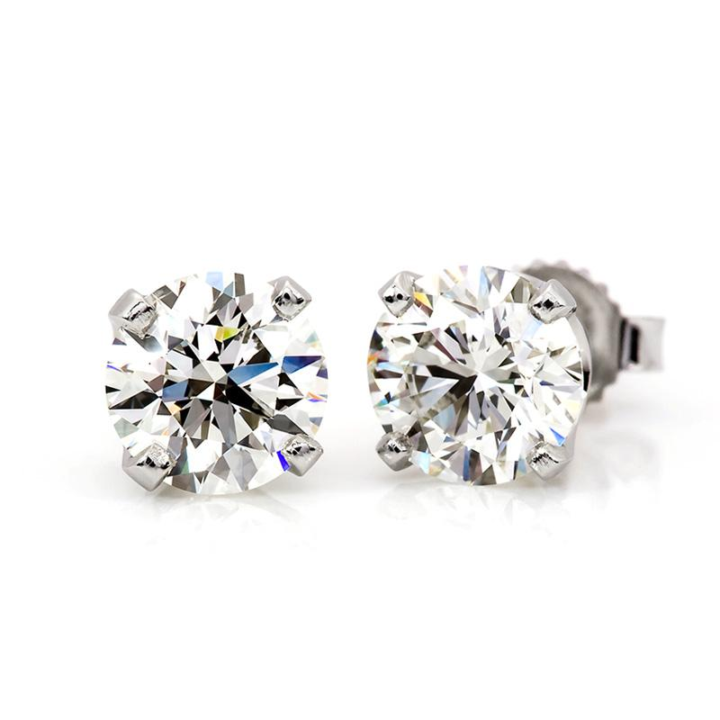 1/3 Carat Diamond Stud Earrings in 14K White Gold (H-I,I2-I3)