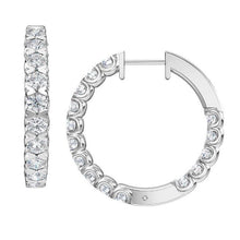 Load image into Gallery viewer, 2.50 Carat Lab-Grown Inside-Out Diamond Hoop Earrings in 14K White Gold (G-H/SI2)