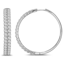 Load image into Gallery viewer, 6.00 Carat Diamond Hoop Earrings in 14K White Gold