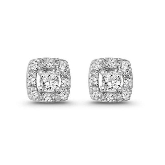 1/4  Carat Diamond Stud Earrings in 10K White Gold