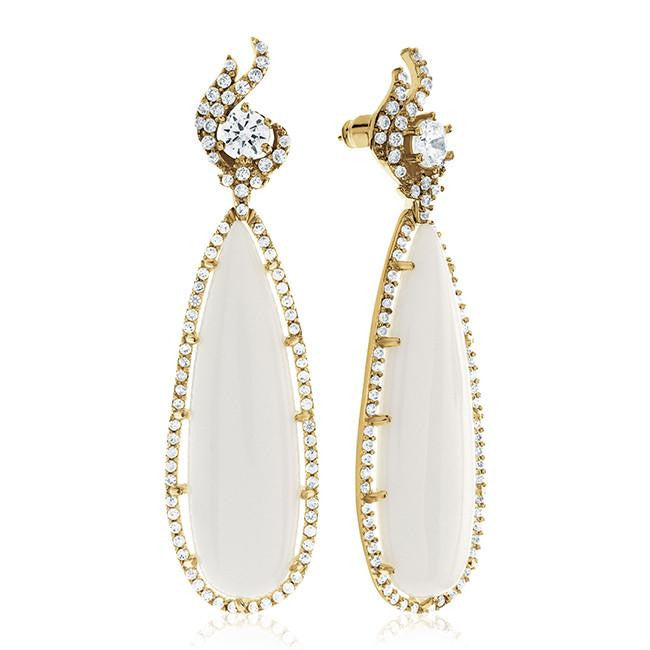 Genuine Agate Teardrop Fashion Earrings