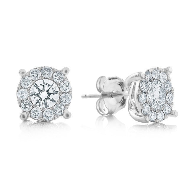 Endless Harmony: 0.50 Carat Diamond Stud Earrings in 14k White Gold
