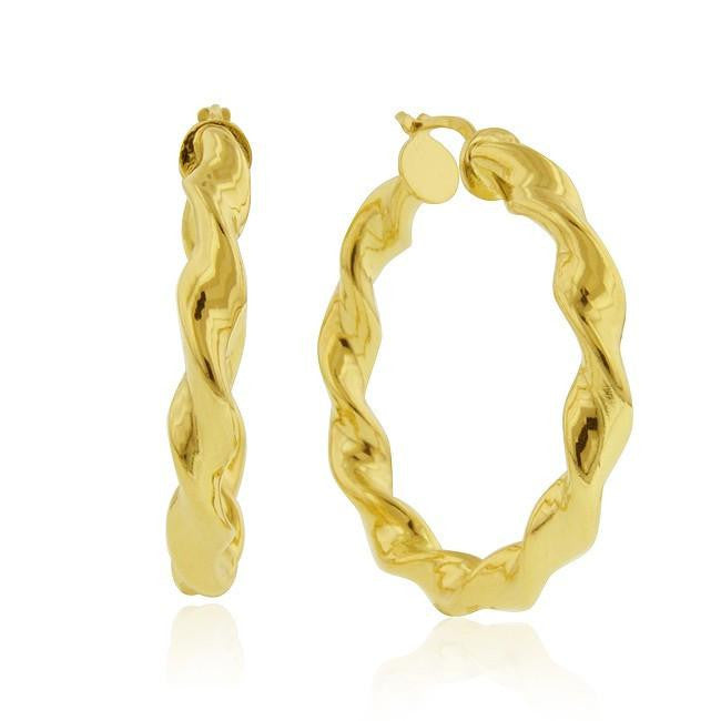 Grazie Italiana Collection: Twisted Hoop Earrings