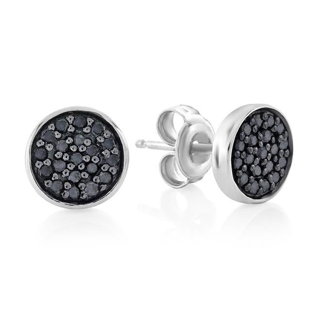 811af78a7 0.25 Carat Black Diamond Stud Earrings in Sterling Silver – Netaya