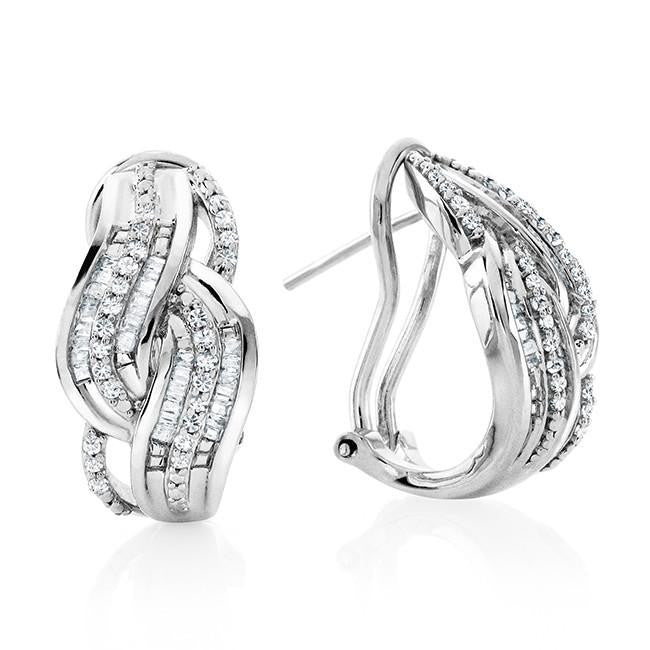 0.70 Carat Diamond Earrings in Sterling Silver