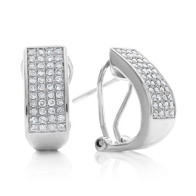 0.50 Carat Diamond Earrings in Sterling Silver